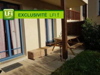 A vendre appartement RDC 3 pièces  jardin
