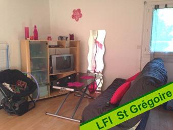 Appartement T 1 à vendre St Grégoire