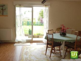 A vendre appartement RDC 3 pièces grand jardin