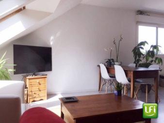 Appartement  de type 2 à vendre à Saint Gilles –  49.37 m2 (64.73m² au sol) – 10min de Rennes