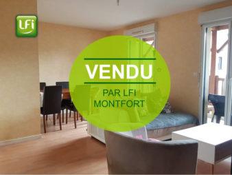 Vendu Appartement – 3 pièces – 63 m2