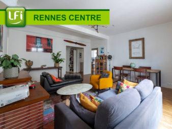 Appartement Rennes 4 pièce(s) 92.61 m2 avec cave et grenier à deux pas de la Mairie de rennes