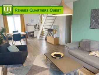 4 pièces en duplex quartier Cleunay