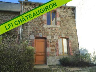 Maison de type 2/3 à vendre à Louvigné de bais. 10 mm de Chateaugiron