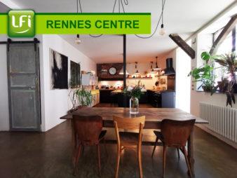 Appartement Rennes  – Centre-Ville – Chézy Dinan – 3 pièces 91.83 m2 – Style Loft