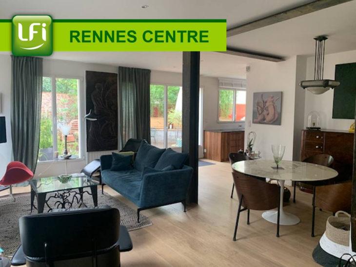 Maison 6 pièces 156 m2 terrain d'environ 230 m² Rennes Centre -ville quartier Anatole France - LFI-CENTRE-B-7076