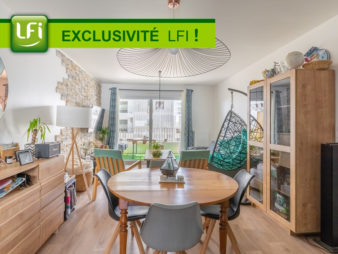 EXCLUSIVITE AGENCE ! Appartement Rennes Centre ville – Vélodrome – Baud / Chardonnet 4 pièces, 80.90 m2, parking et balcon – construction de 2017