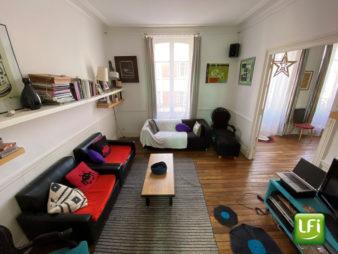 Appartement Rennes Centre ville 5 pièces de 101.5 m2 – cave, grenier, balconnet