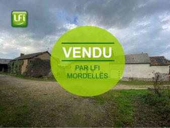 Corps de ferme à Cintré -166.71 m2 – 6 pièces – Vendu