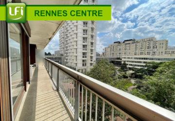 Appartement Rennes Colombier 5 pièces de 131m2 situé au 4ème étage plein Ouest avec balcon, cave et garage - LFI-CENTRE-B-8999