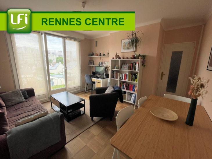 Appartement Rennes Centre ville, Anatole-France, Bourg l'évêque 2 pièces, 38.82 m2, cave - LFI-CENTRE-B-9434